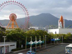 皿倉山と大観覧車、スペースシャトル