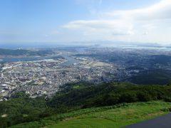 皿倉山山頂にて